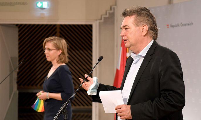 Klimaschutzministerin Leonore Gewessler und Vizekanzler Werner Kogler