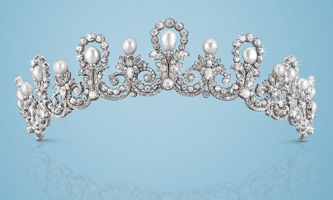 Das Diadem mit Orientperlen und Diamanten wechselte für 442.500 Euro den Besitzer.