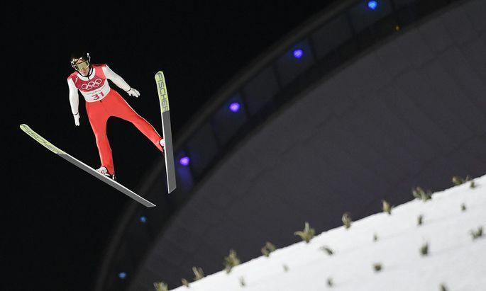 OLYMPISCHE WINTERSPIELE PYEONGCHANG 2018: SKISPRUNG / HERREN EINZEL GROSSSCHANZE: HAYBOeCK (AUT)