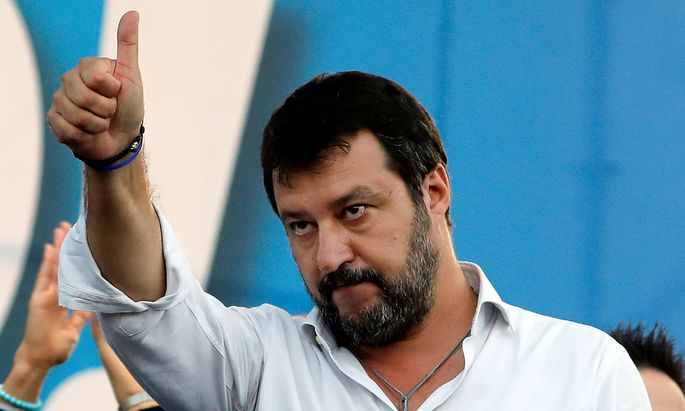 FILE PHOTO: Italy's League Party holds an anti-government demonstration in Rome