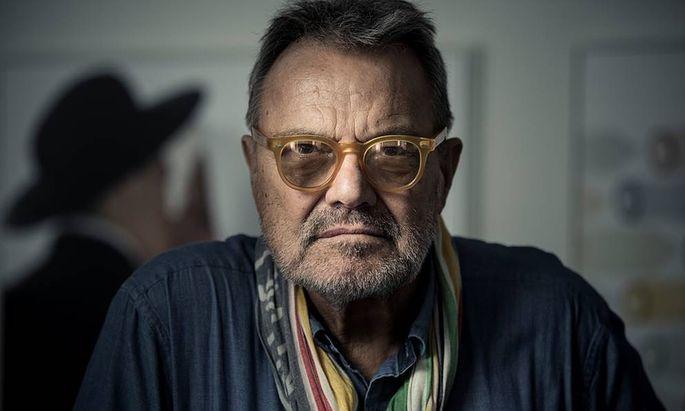 Oliviero Toscani, fotografiert von Christian Jungwirth anlässlich seiner Ausstellung in Graz.