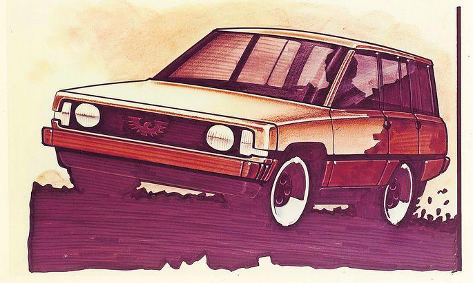 """Visionär: Bei Porsche wurde neben einer Limousine auch der Entwurf eines """"Freizeitwagens"""" angefertigt."""