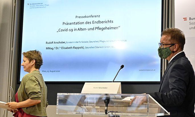 PRAeSENTATION DER STUDIE COVID - 19 IN ALTEN- UND PFLEGEHEIMEN: ANSCHOBER / RAPPOLD