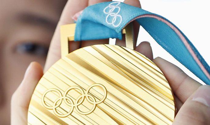 Goldmedaille der Olympischen Spiele in Pyeongchang