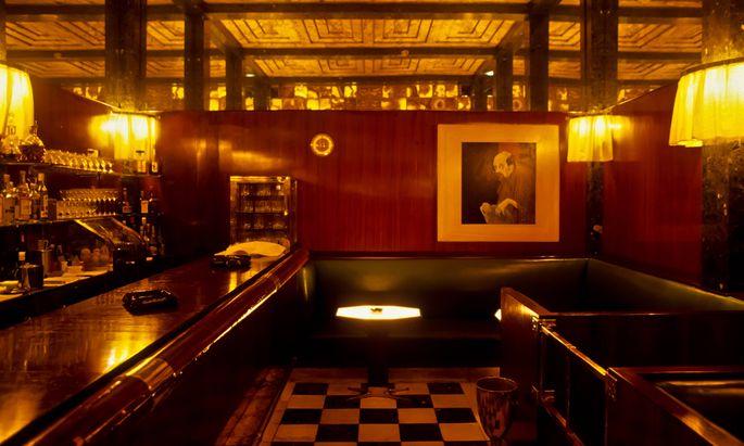Die American Bar von Adolf Loos in der Wiener Innenstadt.