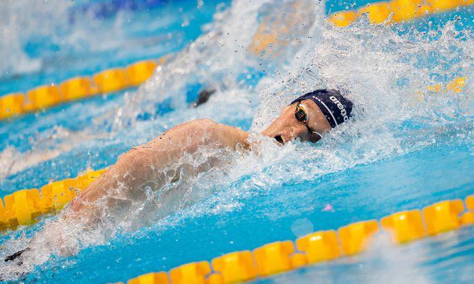 Felix Auböck wollte sein erstes Olympiafinale genießen, war aber als Vierter über 400 Meter Kraul dann doch schwer enttäuscht.