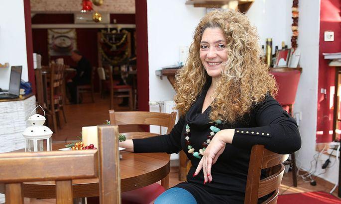 Zina Maleh in ihrem Restaurant in der Wiener Praterstraße.