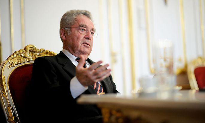 Der scheidende Bundespräsident Heinz Fischer