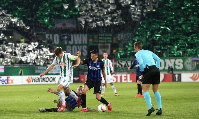 SOCCER - UEFA EL, Rapid vs Inter