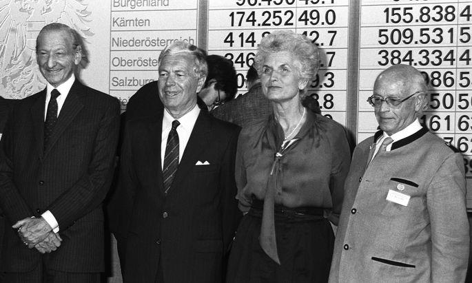 Pr�sidentschaftswahl 86: Waldheim, Steyrer, Meissner-Blau, Scrinzi