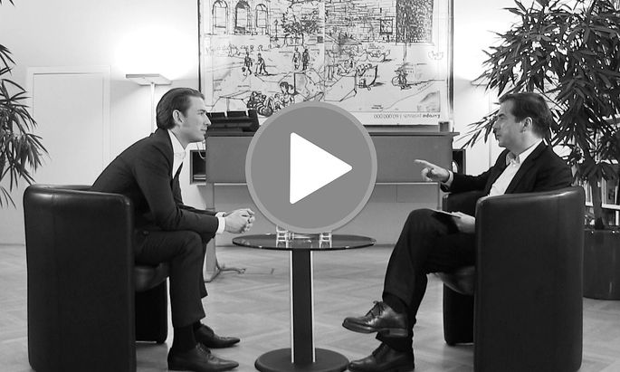 """""""Presse"""" Chefredakteur im Video-Interview mit Sebastian Kurz"""