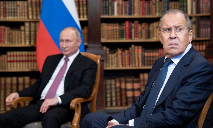 Wladimir Putin und Sergej Lawrow