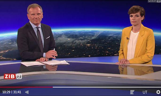Armin Wolf und Pamela Rendi-Wagner