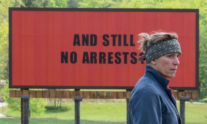 "Frances McDormand in ihrer Oscar-Rolle in ""Three Billboards Outside Ebbing, Missouri""."