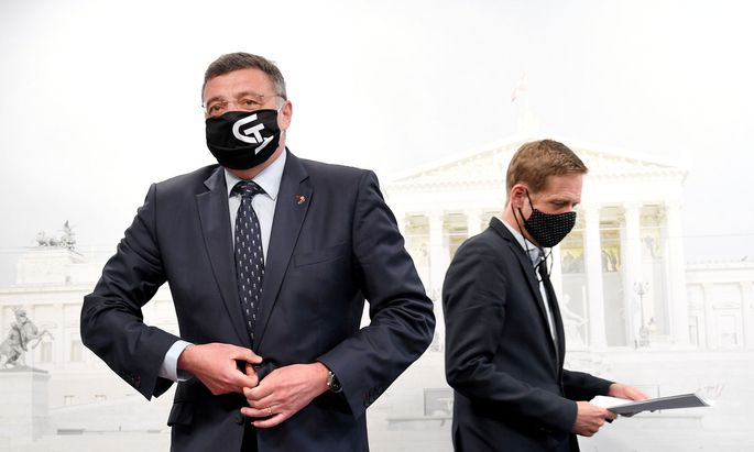 Vizeklubchef Jörg Leichtfried und Fraktionsführer Kai Jan Krainer (beide SPÖ)