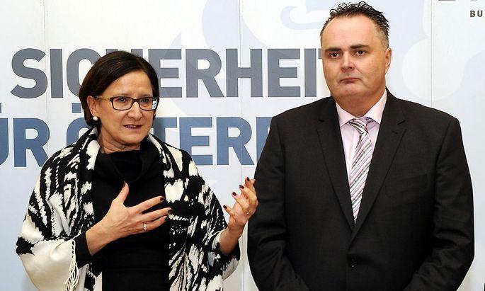 Innenministerin Mikl-Leitner und Verteidigungsminister Doskozil