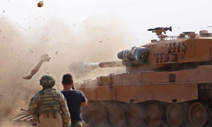 Die türkische Armee beim Einsatz in Syrien.