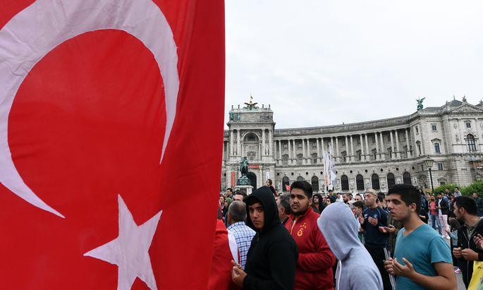 Türkei-Demo in Wien.
