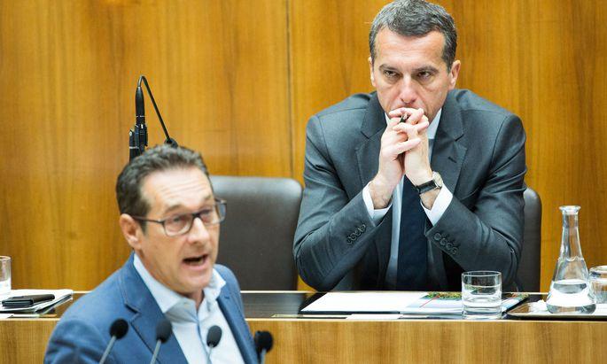 Rot-Blau nach der Wahl? FPÖ-Chef Heinz-Christian Strache (l.) legt wie SPÖ-Chef Christian Kern Bedingungen für Koalitionen fest.