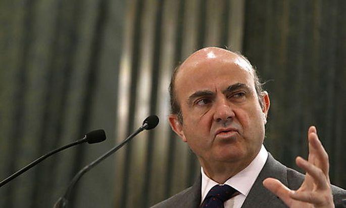 Der Banken-Restrukturierungsfonds werde die Bankia stützen, sagt der spanische Wirtschaftsminister De Guindos