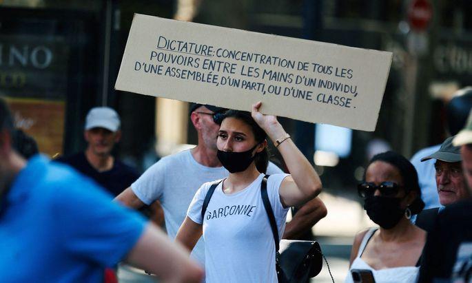 Am Wochenende wurde protestiert.