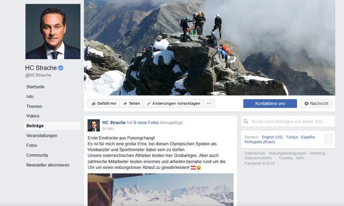 Facebookseite von Heinz-Christian Strache.