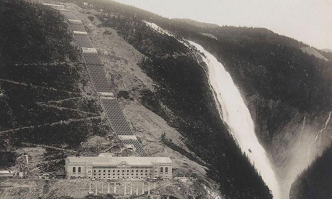 (c) Vemork in der Hardangervidda: Hier stand das zur Zeit seiner Erbauung größte Wasserkraftwerk der Welt. Die Nazis wollten es dann für ihre Zwecke nützen.