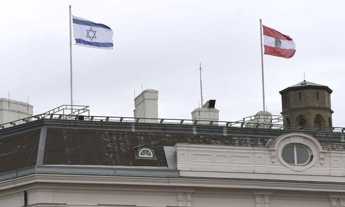 """Davidstern und Bundesadler: """"Österreich steht voll und ganz hinter Israel"""", so Kurz."""