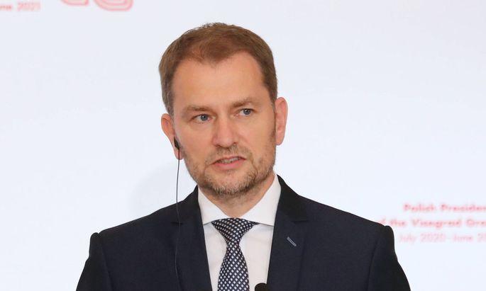 der slowakische Ministerpräsident Igor Matovic war zu Besuch in Wien