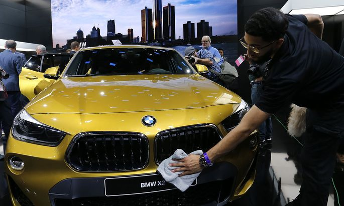 BMW X2 displayed at the North American International Auto Show in Detroit