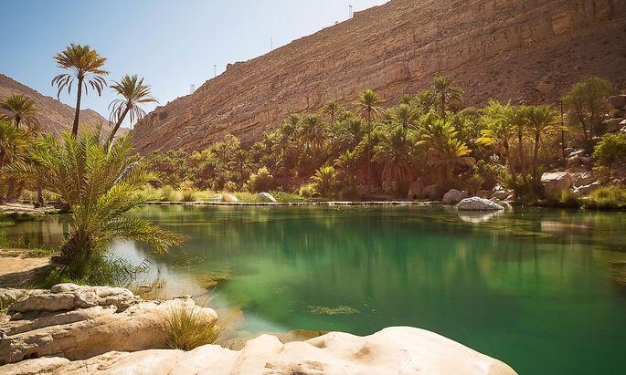 Der Oman wäre das Partnerland der ITB 2020 gewesen. Im Bild: Der Wadi Bani Khalid.
