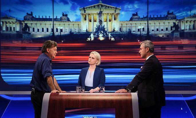 """Allein der ORF brachte mit """"Wahl 19 - Die Duelle"""" insgesamt 15 TV-Konfrontationen."""
