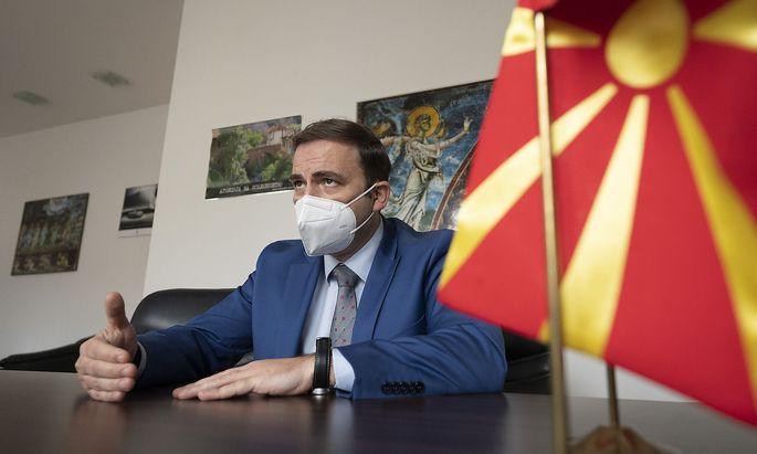 Nordmazedoniens Außenminister Bujar Osmani.