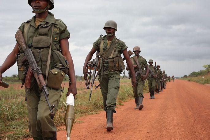 Soldaten in der DR Kongo