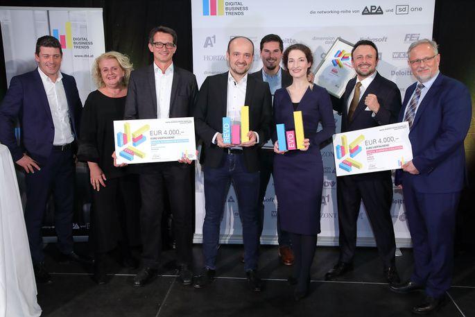 v.l.n.r.: Alexis Johann (styria digital one, FehrAdvice & Partners), Barbara Rauchwarter (APA – Austria Presse Agentur), Paul Blazek (Combeenation), Klaus Pilsl (Combeenation), Lukas Pinter (Combeenation), Veronika Haberler (LeReTo), Peter Melicharek (LeReTo), Alexander Falchetto (APA-IT)