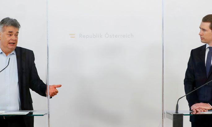 Vizekanzler Werner Kogler und Kanzler Sebastian Kurz