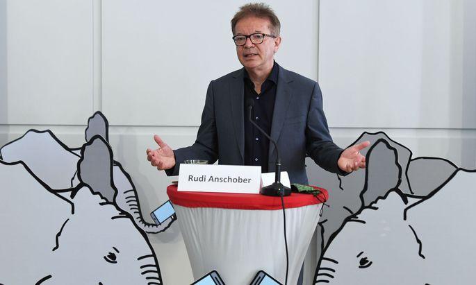 Archivbild: Gesundheitsminister Rudolf Anschober bei einer Pressekonferenz zur 'Stopp-Corona-App' im Juni 2020
