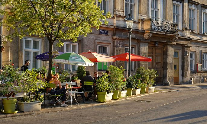 Wien 2., Kleine Sperlgasse, Gastgarten *** Vienna 2 , Kleine Sperlgasse, Restaurant garden