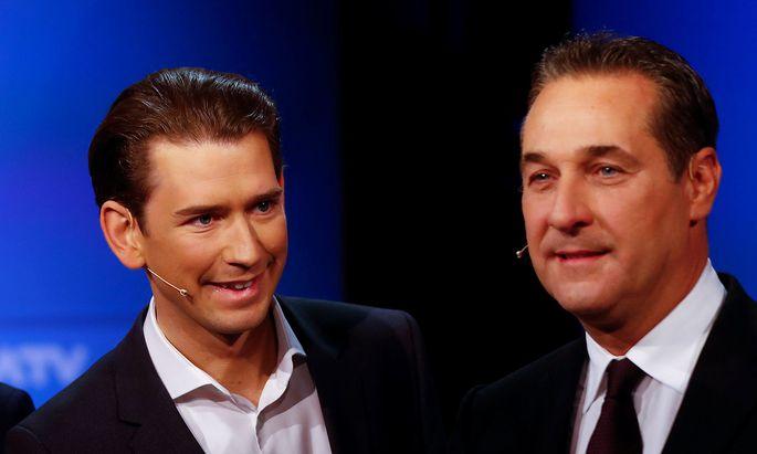 Sebastian Kurz; Heinz-Christian Strache