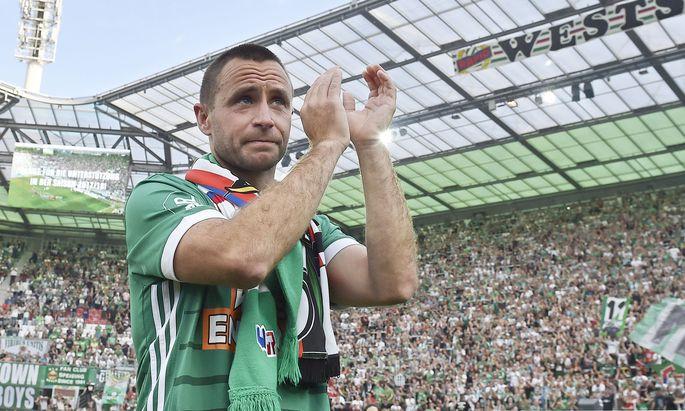 Das Ende einer Legende: Steffen Hofmann verabschiedet sich am Sonntag in Hütteldorf von seinen Fans und dem aktiven Profifußball.