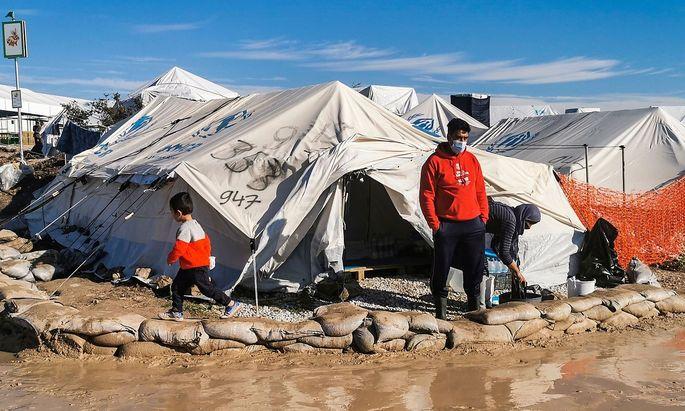 Das Flüchtlingslager in Kara Tepe in Griechenland am 19. Dezember.
