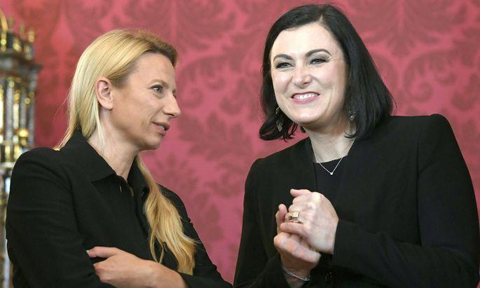 Juliane Bogner-Strauß (l.). und Elisabeth Köstinger stehen vor einer Rückkehr in die Legislative.