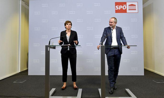 Bundesparteivorsitzende Pamela Rendi-Wagner und Bundesgeschäftsführer Thomas Drozda