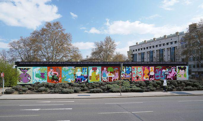 "Rade Petrasevic: ""What If I Never Find Out Who's a Good Boy"" (2021), Installationsansicht der Kunsthalle Wien am Karlsplatz."