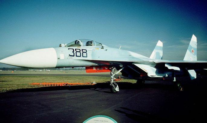 ARCHIVBILD RUSS. KAMPFJET ãSUCHOI SU-27Ò