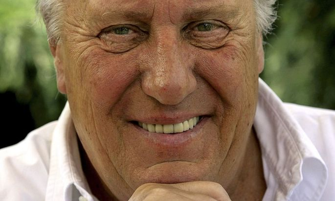 File of British novelist Frederick Forsyth during an interview at his home near Hertford
