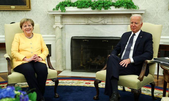 Angela Merkel wurde von Joe Biden im Weißen Haus empfangen