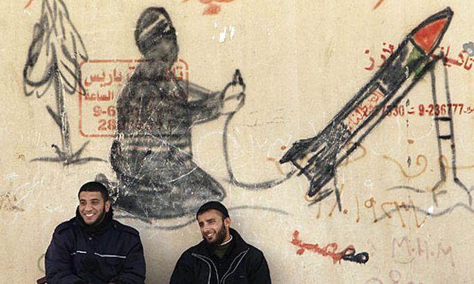 Wandbild in Gaza.