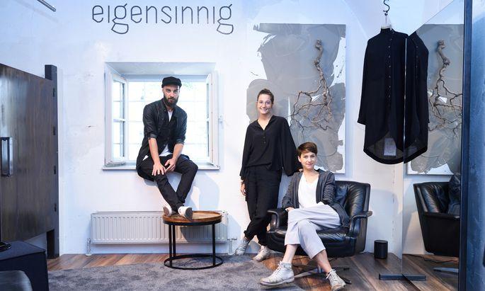 Toni Woldrich, Julia Avi und Stefanie Hofer (v. l.) wollen vor den Augen ihrer Kunden experimentieren.