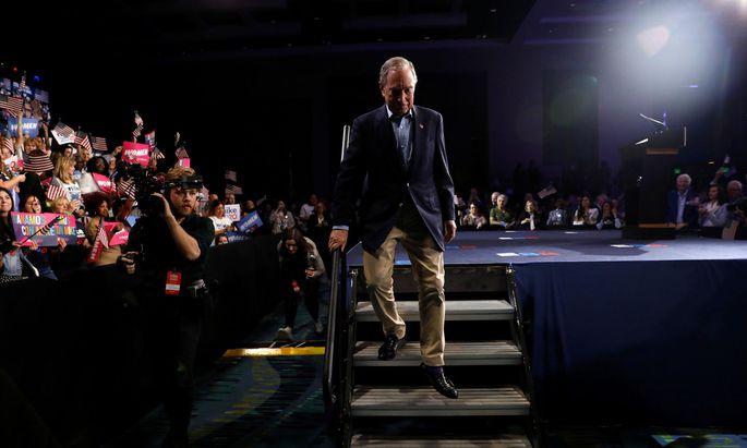 Abgang von der Wahlkampfbühne: Multimilliardär Michael Bloomberg in West Palm Beach in Florida.